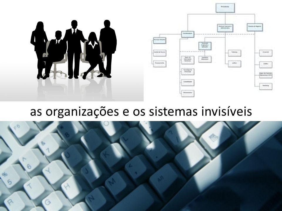 as organizações e os sistemas invisíveis