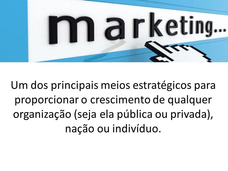 Um dos principais meios estratégicos para proporcionar o crescimento de qualquer organização (seja ela pública ou privada), nação ou indivíduo.