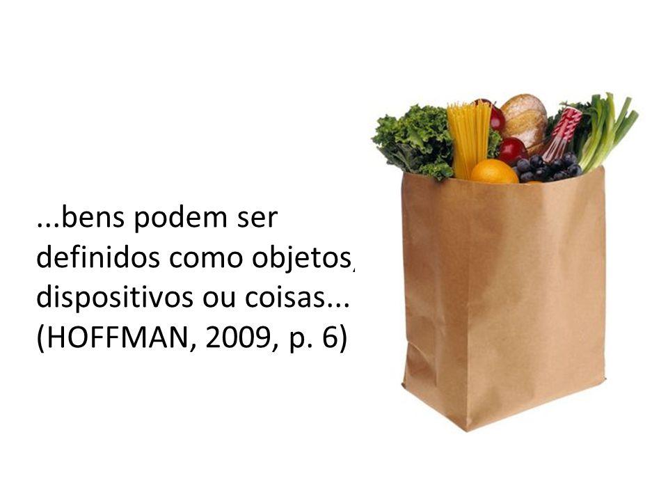 ...bens podem ser definidos como objetos, dispositivos ou coisas... (HOFFMAN, 2009, p. 6)
