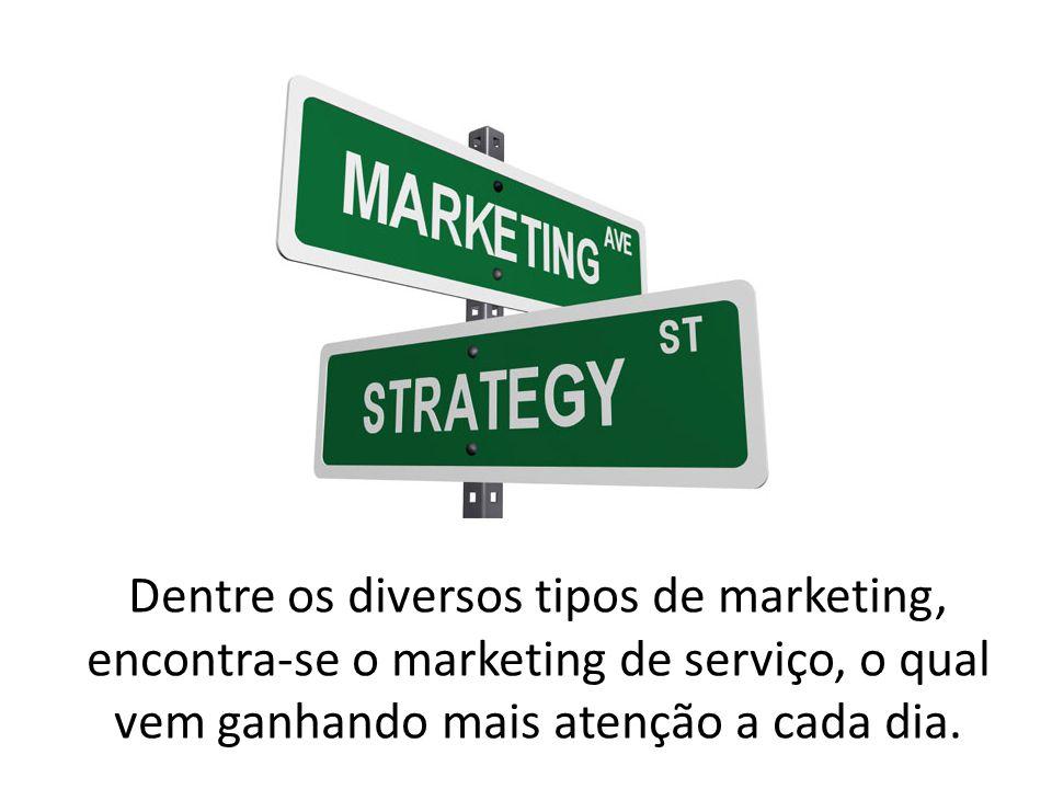 Dentre os diversos tipos de marketing, encontra-se o marketing de serviço, o qual vem ganhando mais atenção a cada dia.