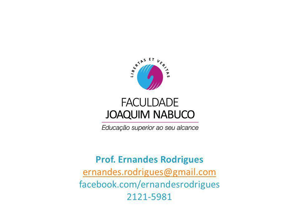 Prof. Ernandes Rodrigues ernandes.rodrigues@gmail.com facebook.com/ernandesrodrigues 2121-5981