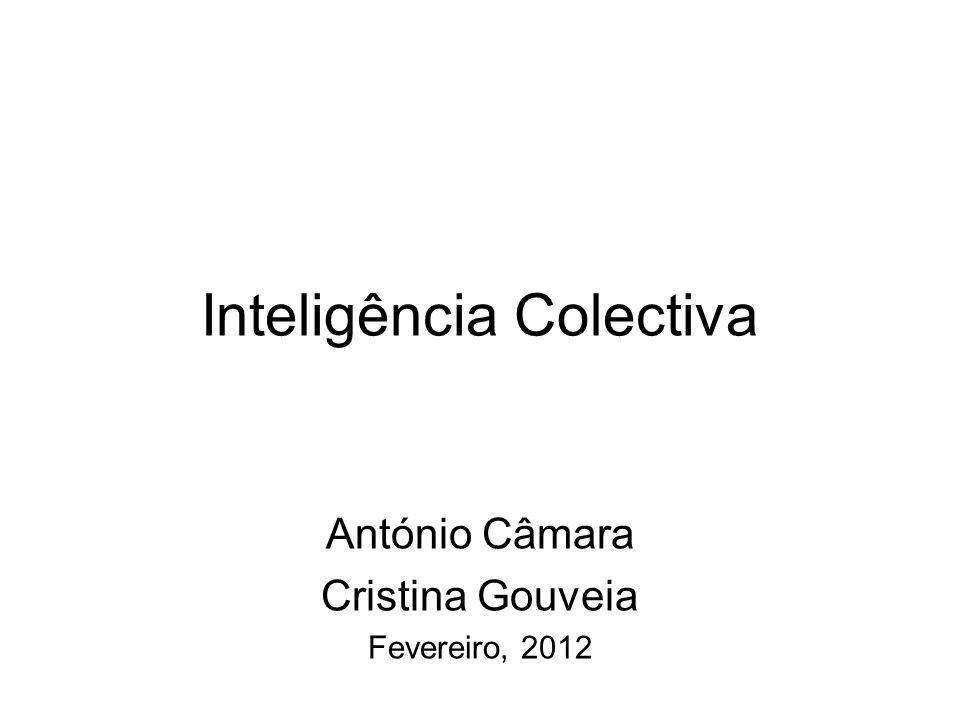 Inteligência Colectiva António Câmara Cristina Gouveia Fevereiro, 2012