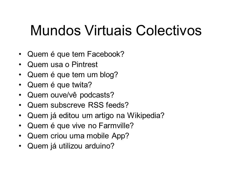 Mundos Virtuais Colectivos Quem é que tem Facebook.