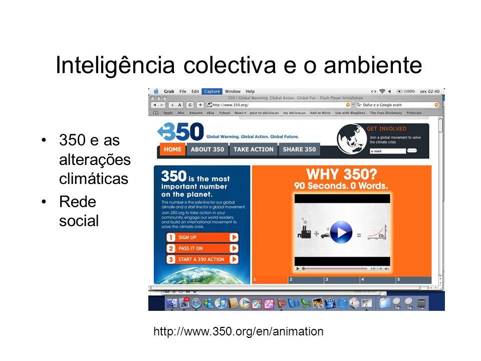 http://www.350.org/en/animation 350 e as alterações climáticas Rede social Inteligência colectiva e o ambiente