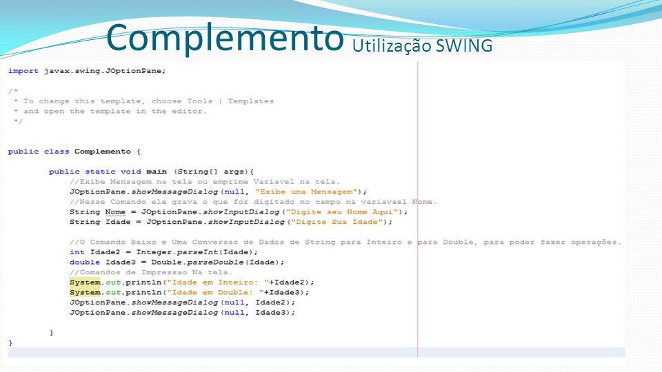 Complemento Utilização SWING