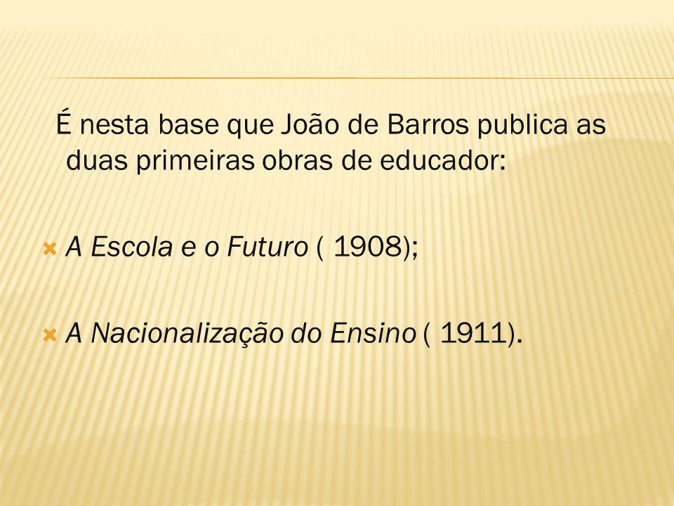  O desenvolvimento do espírito cívico seria um processo que deveria ser transmitido em todos os ciclos escolares.