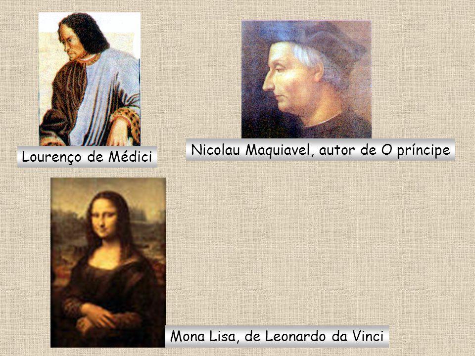 Lourenço de Médici Nicolau Maquiavel, autor de O príncipe Mona Lisa, de Leonardo da Vinci