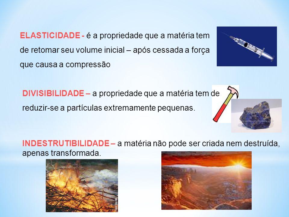 ESTADO FÍSICO OU DE AGREGAÇÃO DA MATÉRIA COR ODOR SABOR CONDUTIBILIDADE DUREZA BRILHO Sólido, líquido, gás Propriedades específicas da matéria: