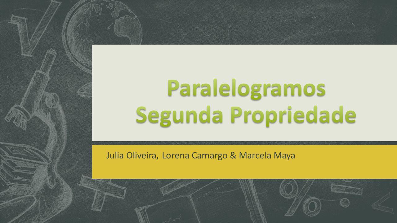 O que são os paralelogramos?  Paralelogramos são quadriláteros que tem os lados opostos paralelos.