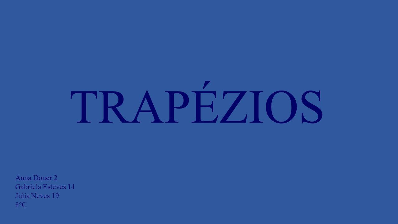 Os trapézios são quadriláteros que tem apenas dois de seus lados paralelos, a distância entre os dois lados paralelos é chamada de altura.