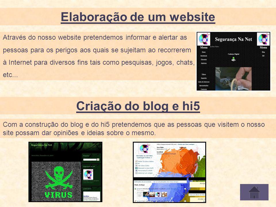 Através do nosso website pretendemos informar e alertar as pessoas para os perigos aos quais se sujeitam ao recorrerem à Internet para diversos fins tais como pesquisas, jogos, chats, etc...