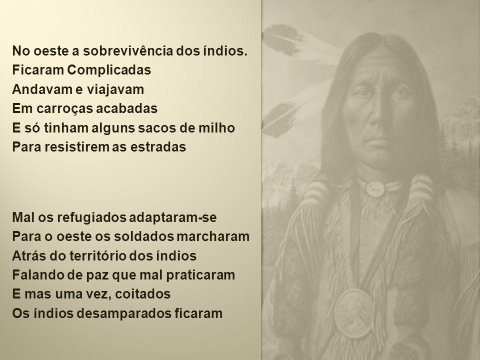 No oeste a sobrevivência dos índios.