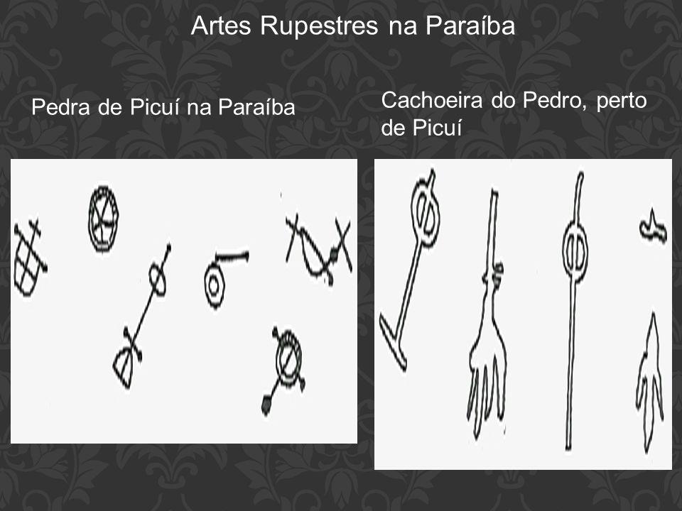 Artes Rupestres na Paraíba Pedra de Picuí na Paraíba Cachoeira do Pedro, perto de Picuí