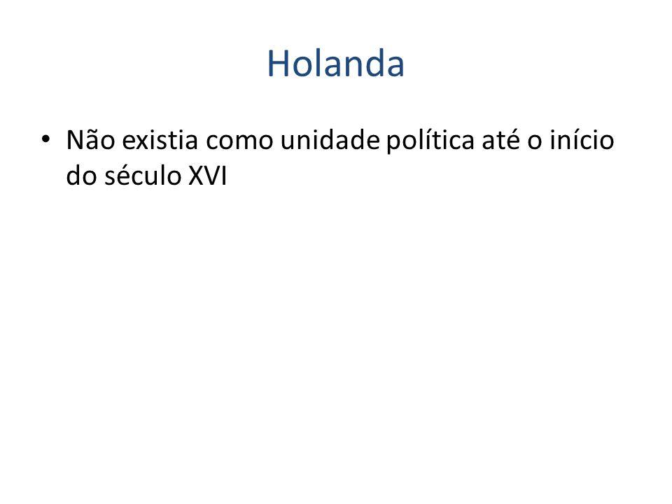 Holanda Não existia como unidade política até o início do século XVI