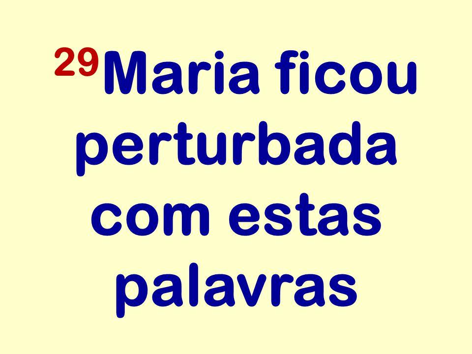 29 Maria ficou perturbada com estas palavras