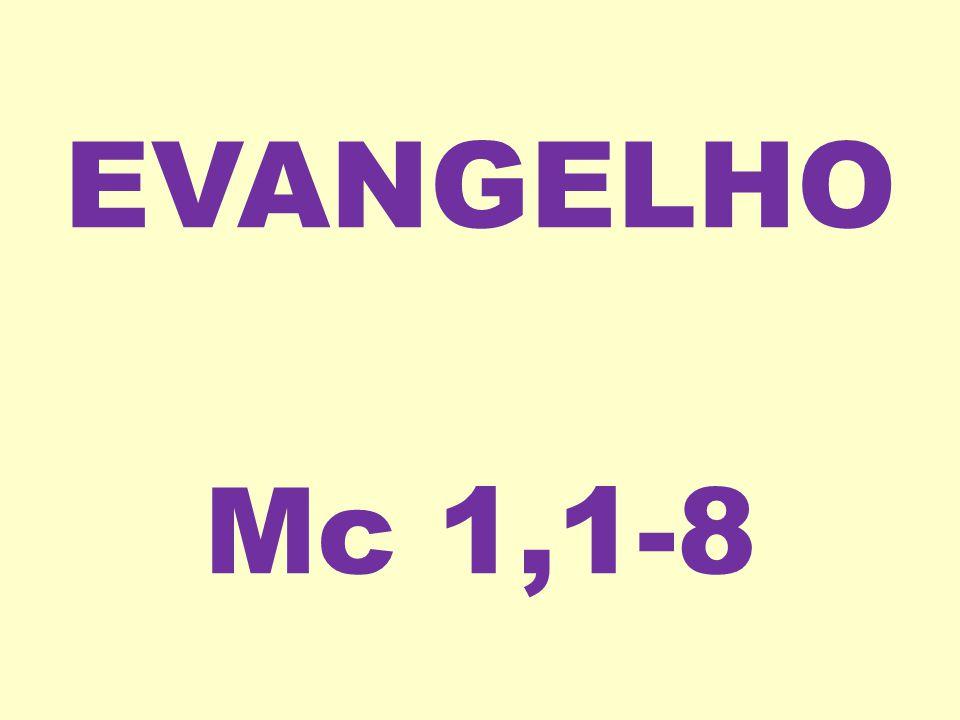 EVANGELHO Mc 1,1-8