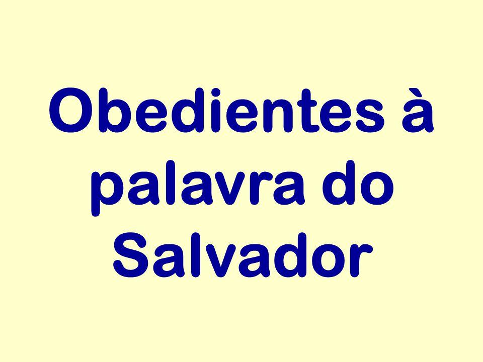 Obedientes à palavra do Salvador
