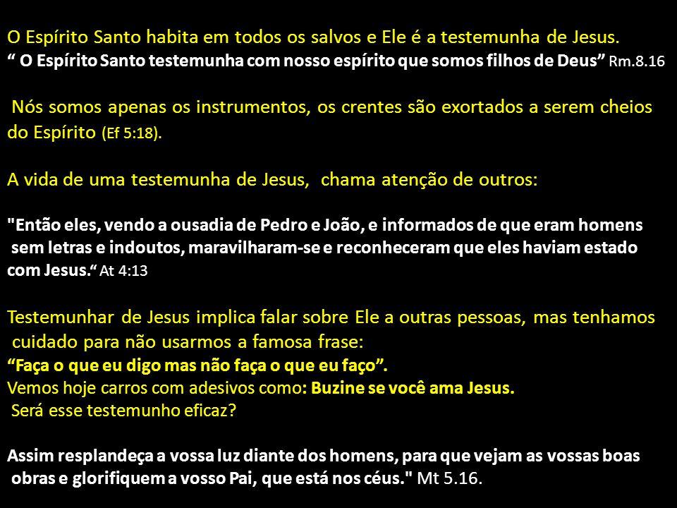 """O Espírito Santo habita em todos os salvos e Ele é a testemunha de Jesus. """" O Espírito Santo testemunha com nosso espírito que somos filhos de Deus"""" R"""