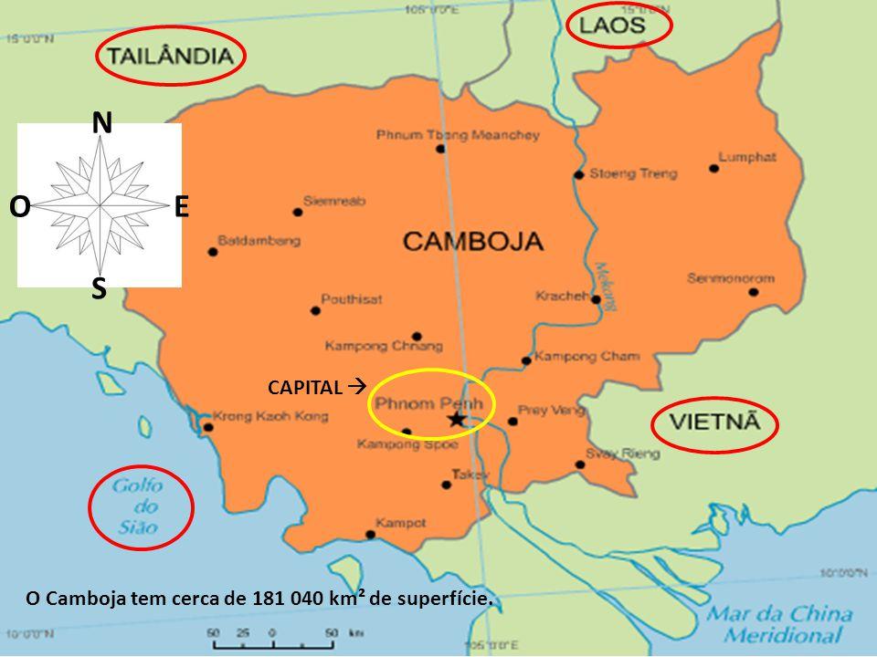 No Camboja vivem cerca de 15 milhões de pessoas.A língua oficial é o Khmer.