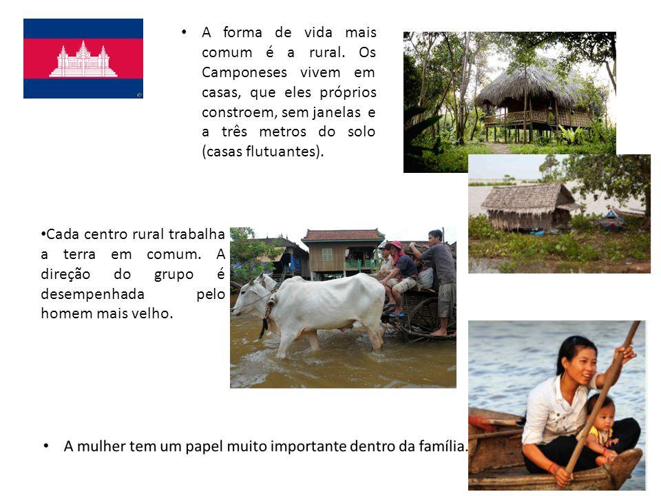 Cada centro rural trabalha a terra em comum.