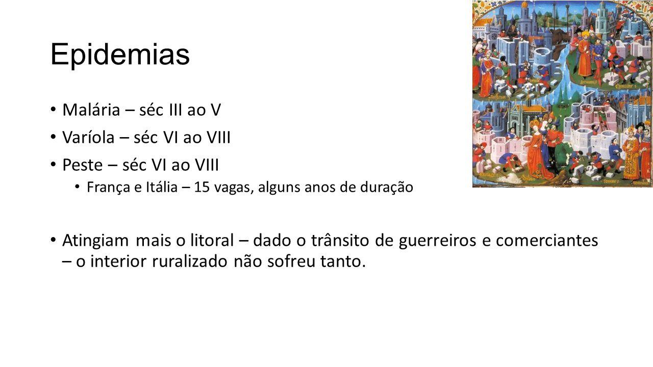 Alta Idade Média - VIII a X Retomada de crescimento – segunda metade do séc VIII.