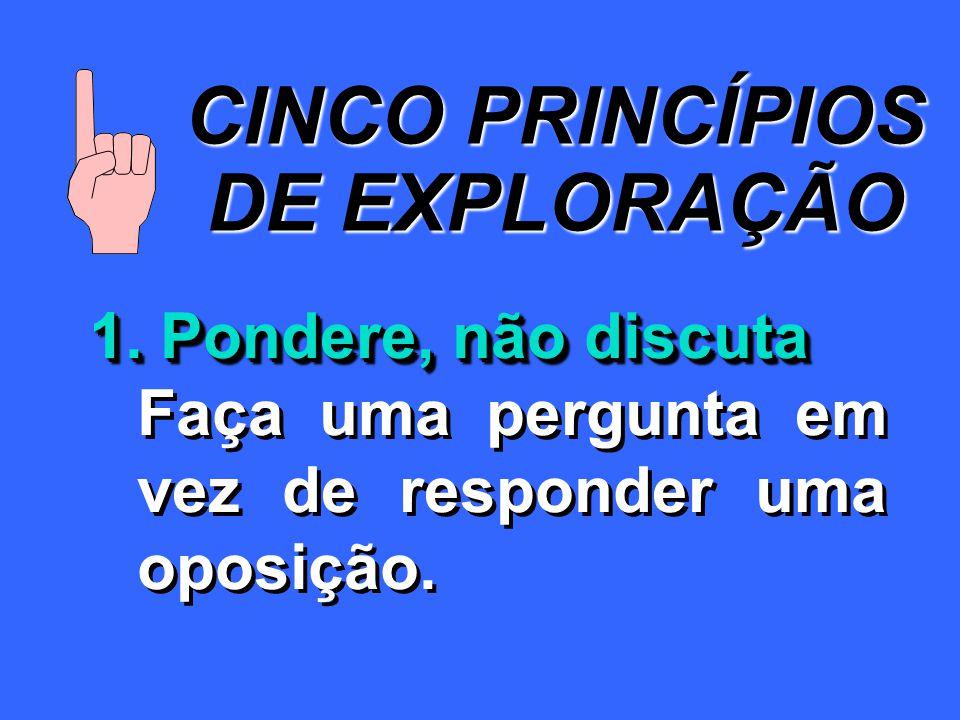 CINCO PRINCÍPIOS DE EXPLORAÇÃO 1.