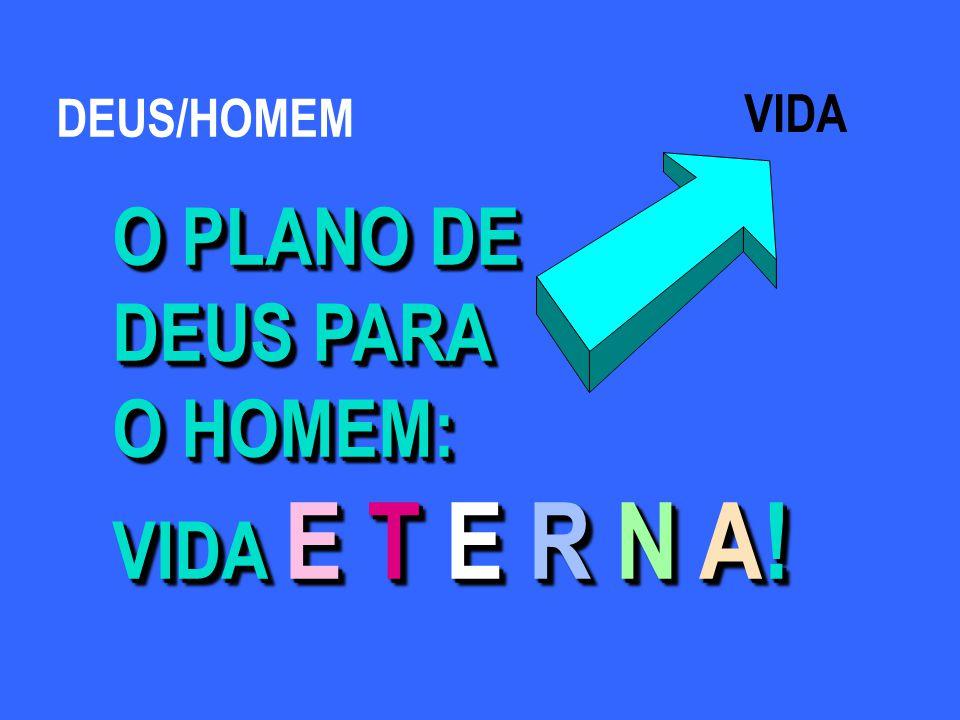 VIDA O PLANO DE DEUS PARA O HOMEM: VIDA E T E R N A.