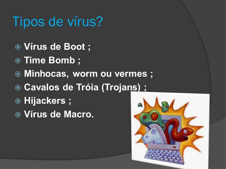 Tipos de vírus.