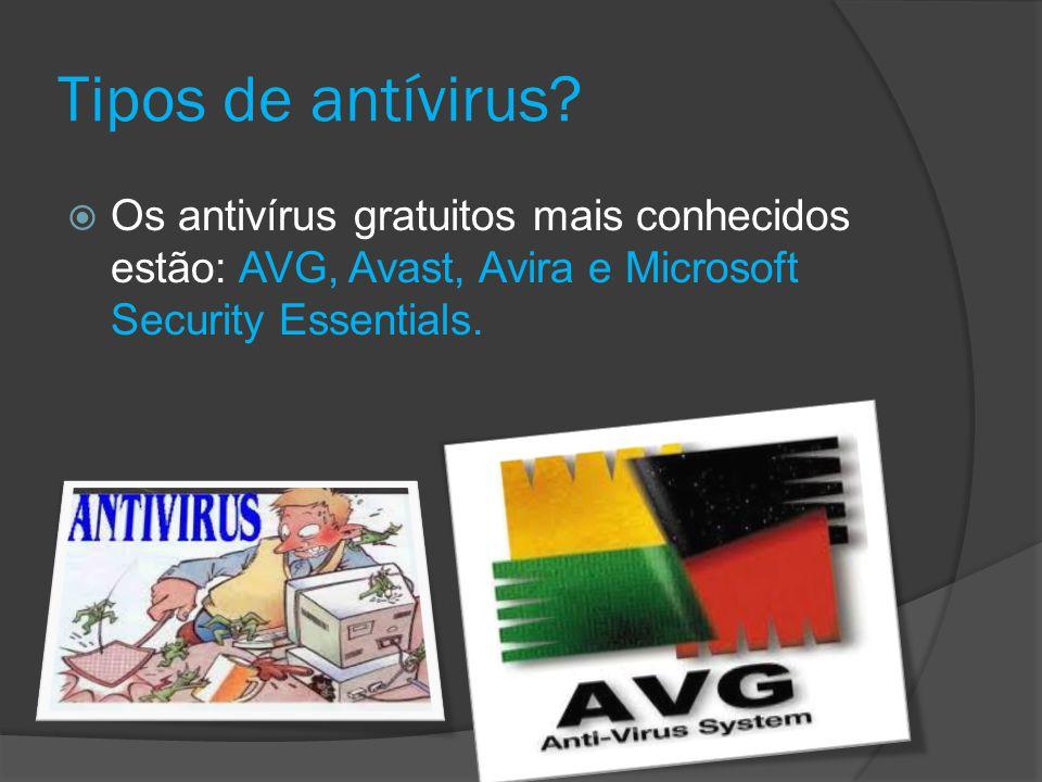 Tipos de antívirus.