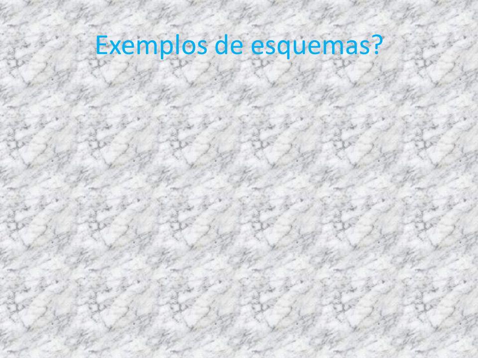 Exemplos de esquemas?