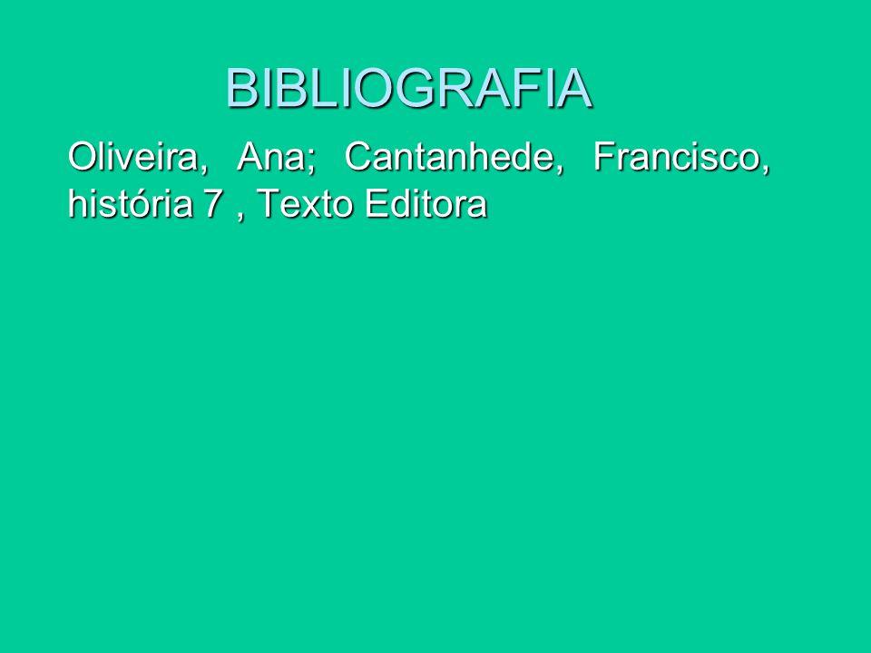 BIBLIOGRAFIA Oliveira, Ana; Cantanhede, Francisco, história 7, Texto Editora
