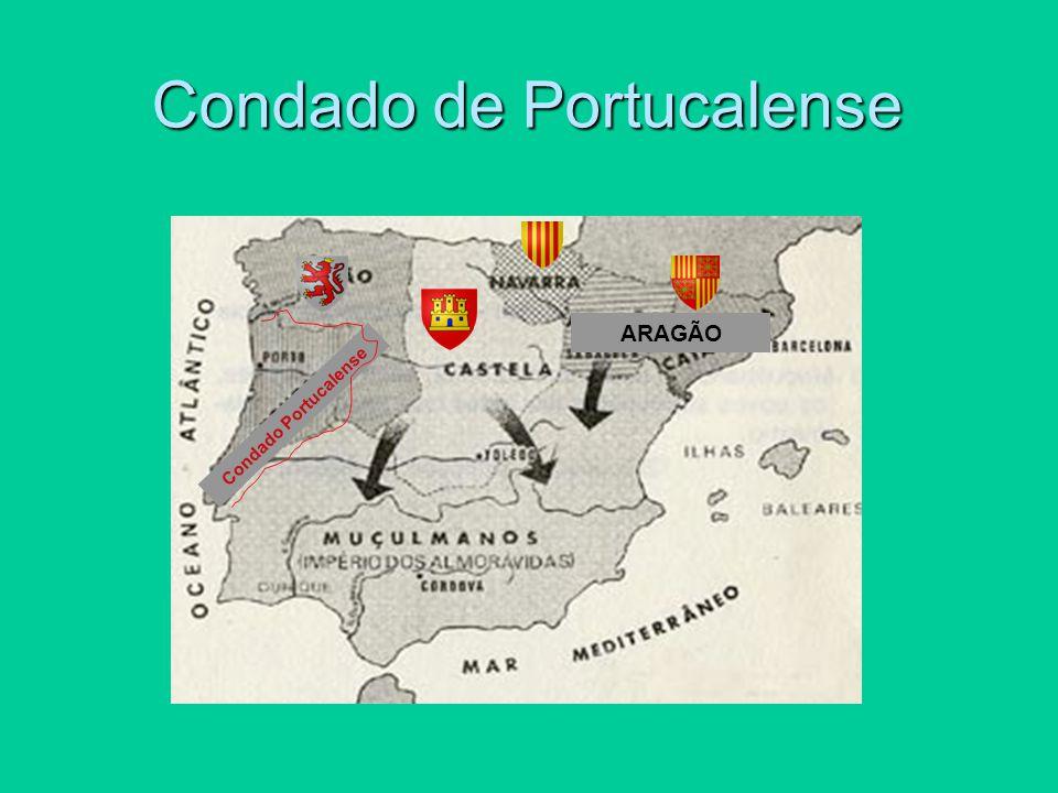 IMPÕ E Deveres - Obedecer - Apoiar militarmente - Conquistar terras aos Mouros Direitos - Governar o Condado Portucalense - Acrescentar ao Condado as terras conquistadas aos Mouros CONCEDE IMPÕ E CONCEDE Condado de Portucalense