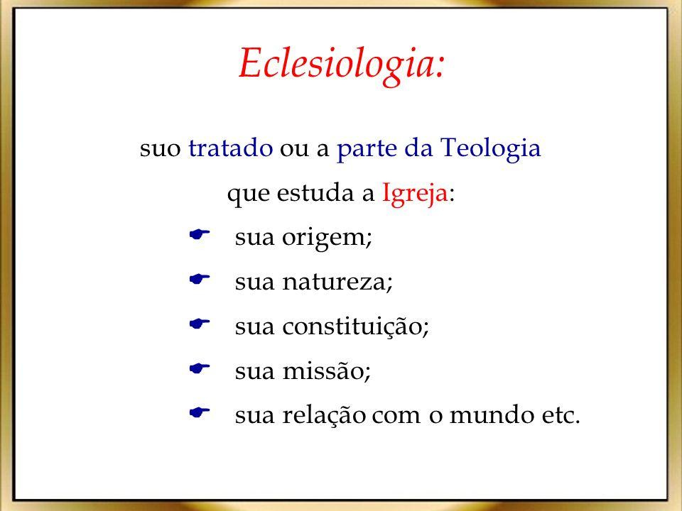 Para compreender a origem e a natureza da Igreja, a Eclesiologia necessariamente deve considerar sua relação com Jesus.
