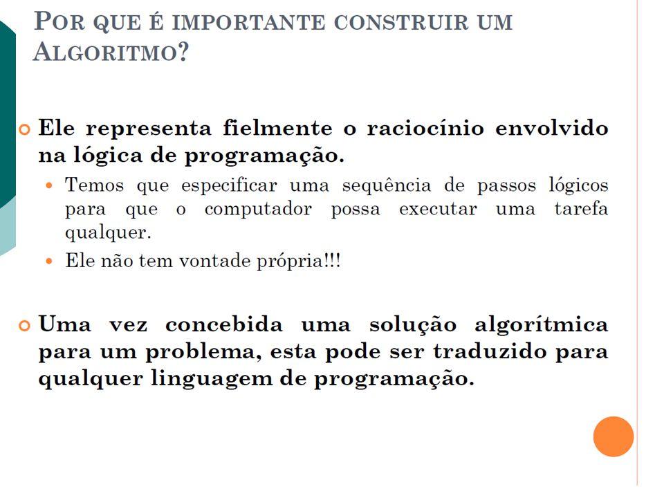 Comandos de Repetição Comparando com algoritmo temos: enquanto condição faca comando fimpara while(condição) comando;