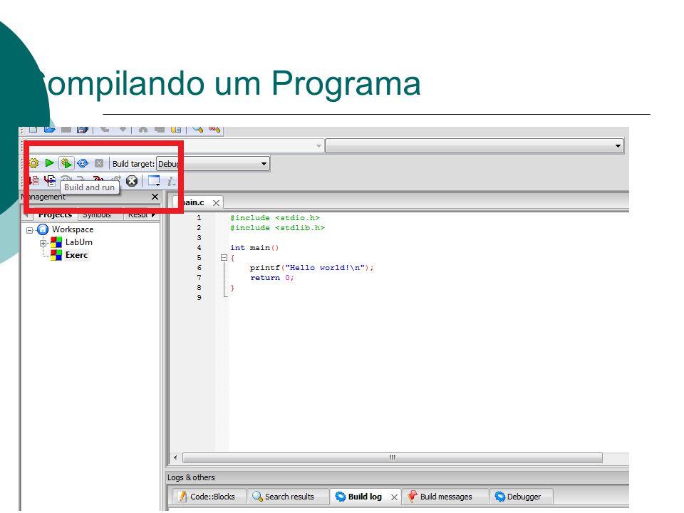 Compilando um Programa