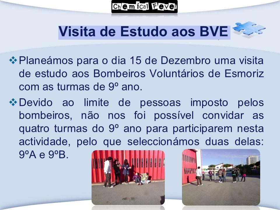 LOGO Click to edit Master text styles Visita de Estudo aos BVE  Planeámos para o dia 15 de Dezembro uma visita de estudo aos Bombeiros Voluntários de Esmoriz com as turmas de 9º ano.