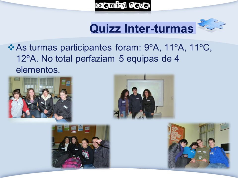 LOGO Click to edit Master text styles  As turmas participantes foram: 9ºA, 11ºA, 11ºC, 12ºA.