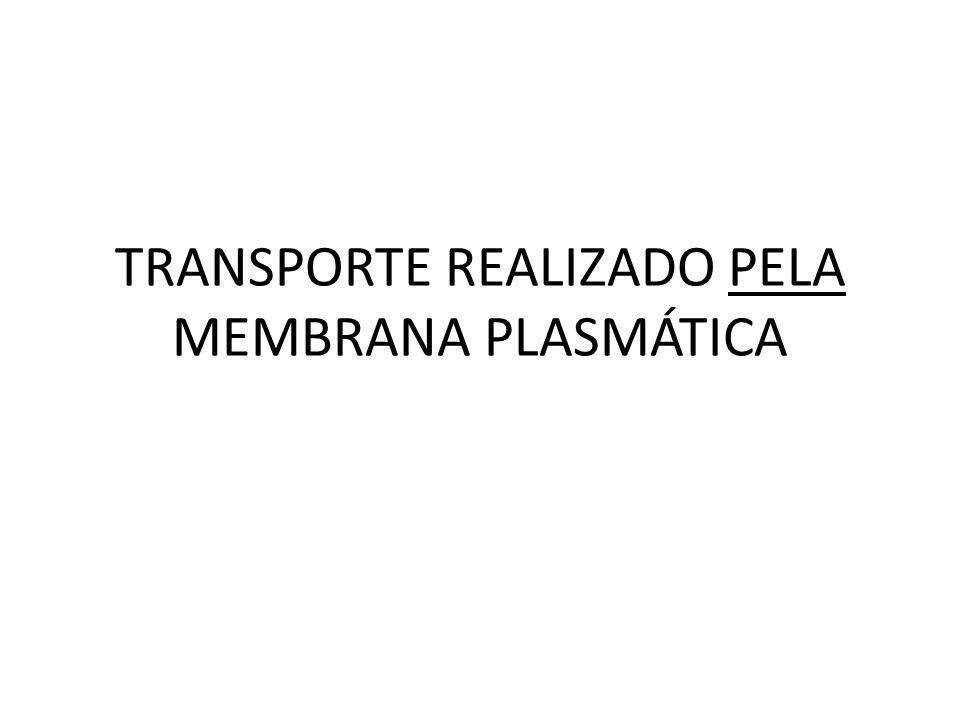 TRANSPORTE REALIZADO PELA MEMBRANA PLASMÁTICA
