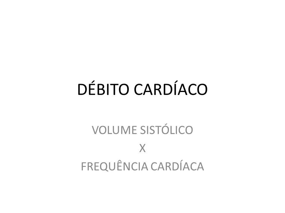 DÉBITO CARDÍACO VOLUME SISTÓLICO X FREQUÊNCIA CARDÍACA