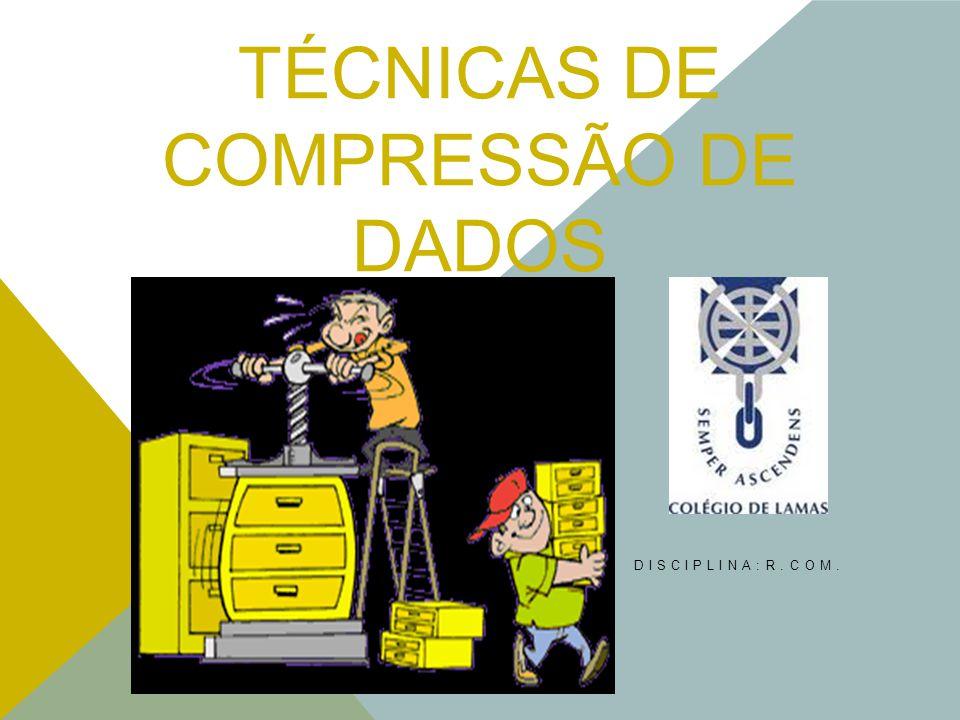 TÉCNICAS DE COMPRESSÃO DE DADOS DISCIPLINA:R.COM.