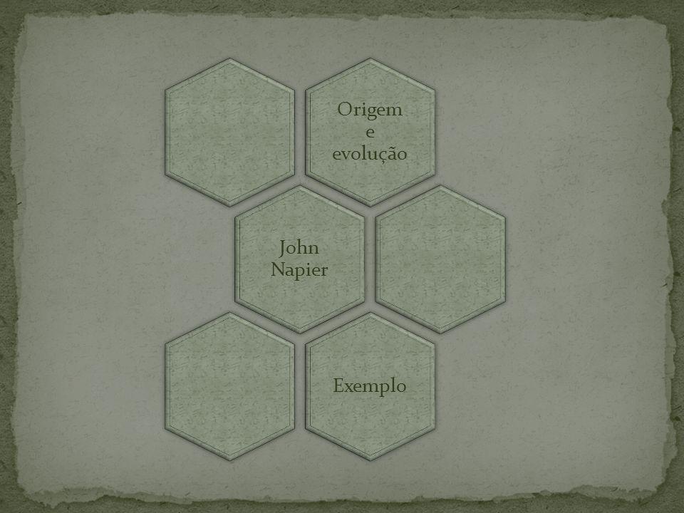 Origem e evolução John Napier Exemplo