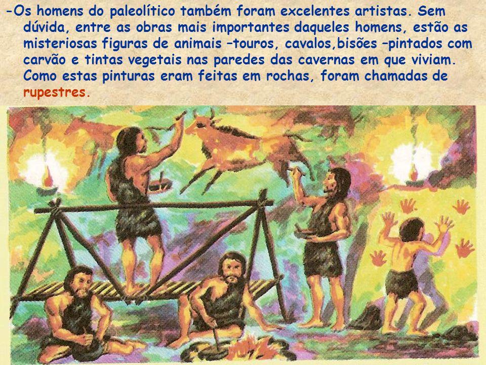 O trabalho de caçar, pescar e construir era feito pelos homens, e o de coletar, preparar os alimentos e cuidar das crianças cabia às mulheres. Podemos