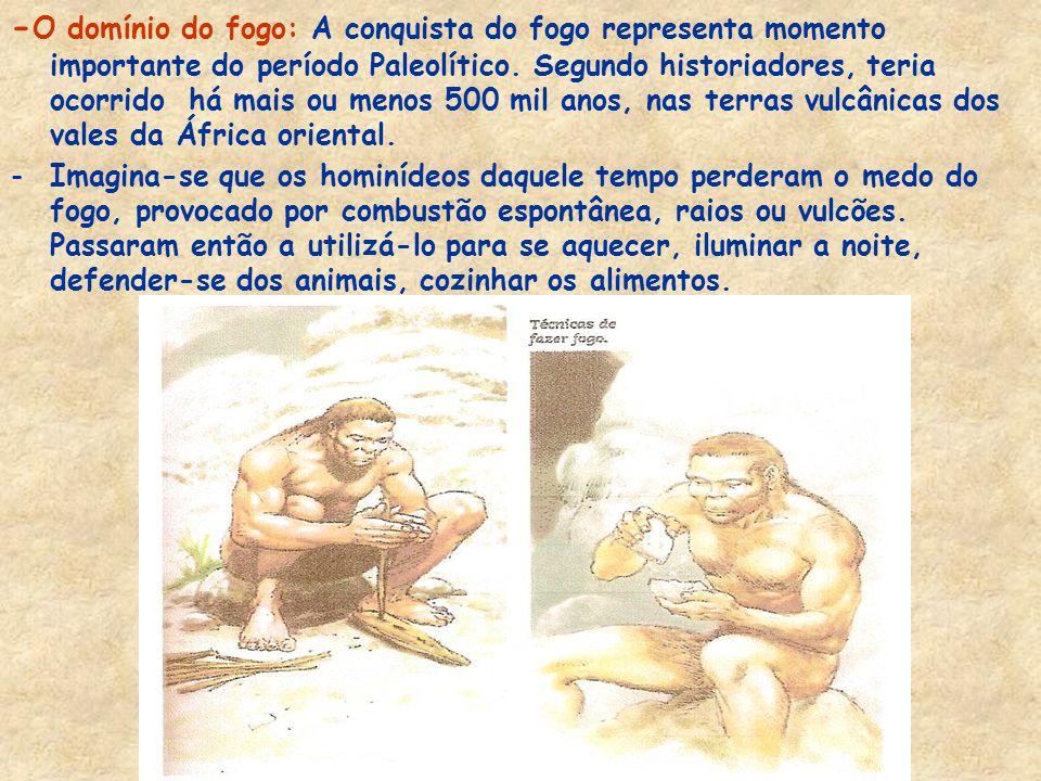 -Os homens do paleolítico também foram excelentes artistas. Sem dúvida, entre as obras mais importantes daqueles homens, estão as misteriosas figuras