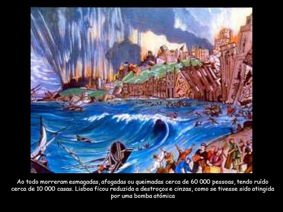 O Terramoto de 1755 Actualmente, alguns estudos referem a Falha do Marquês de Pombal como zona provável do epicentro.