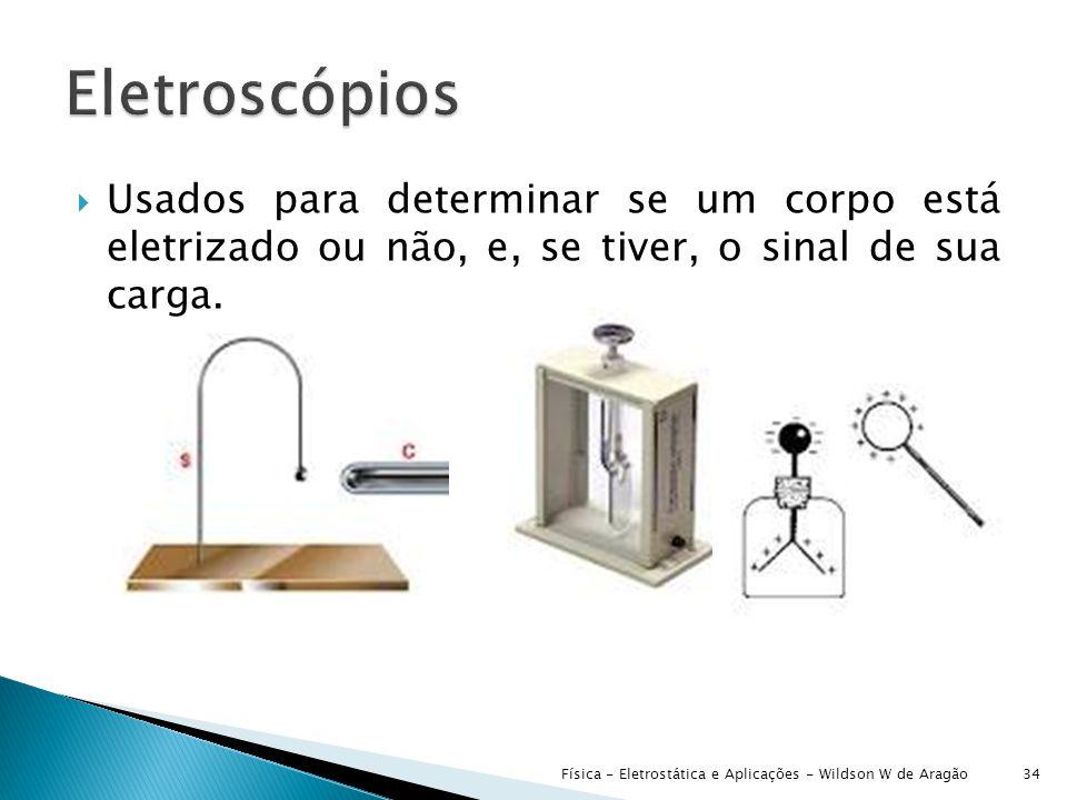  Usados para determinar se um corpo está eletrizado ou não, e, se tiver, o sinal de sua carga.