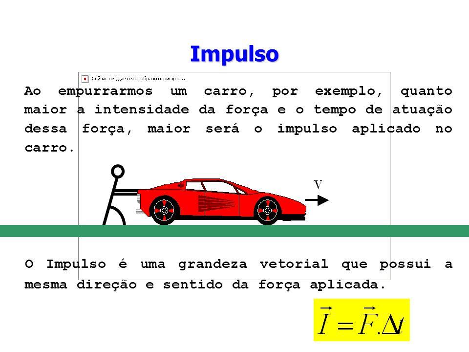 O Impulso é uma grandeza vetorial que possui a mesma direção e sentido da força aplicada. Ao empurrarmos um carro, por exemplo, quanto maior a intensi