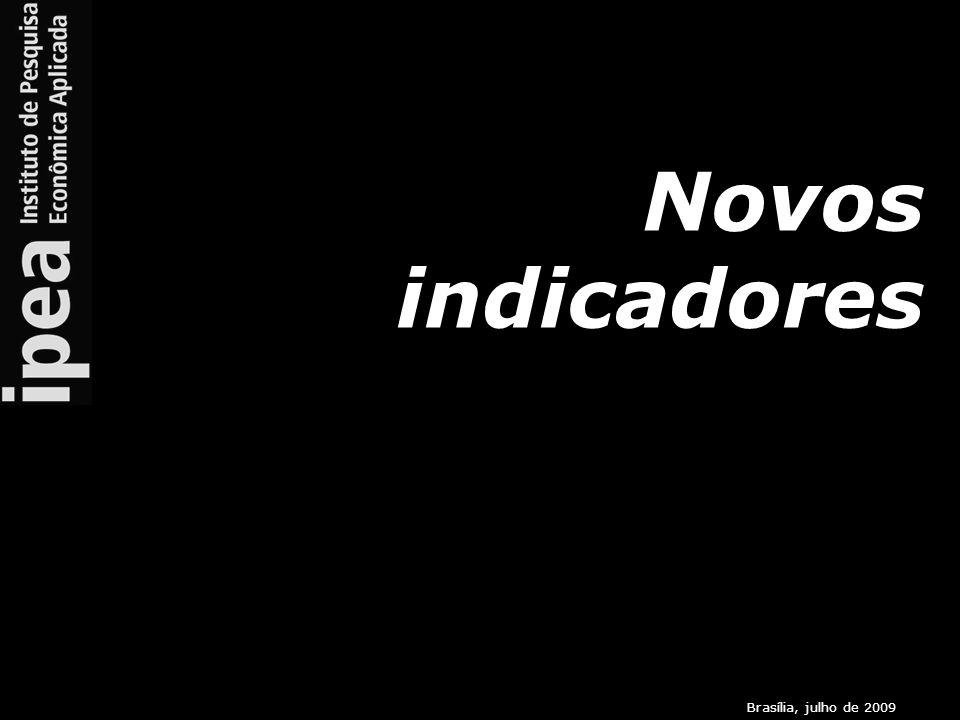 Brasília, julho de 2009 Novos indicadores