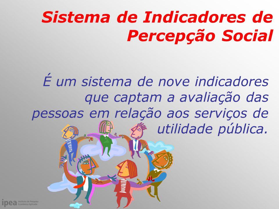 É um sistema de nove indicadores que captam a avaliação das pessoas em relação aos serviços de utilidade pública.