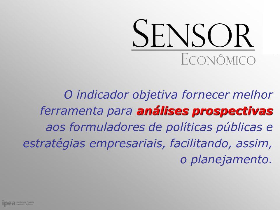 análises prospectivas O indicador objetiva fornecer melhor ferramenta para análises prospectivas aos formuladores de políticas públicas e estratégias empresariais, facilitando, assim, o planejamento.