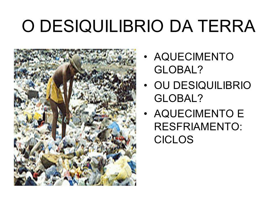 O DESIQUILIBRIO DA TERRA AQUECIMENTO GLOBAL? OU DESIQUILIBRIO GLOBAL? AQUECIMENTO E RESFRIAMENTO: CICLOS